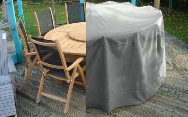 weather cover small round suitegrey